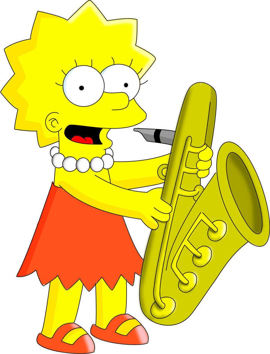 ¿Quién le enseña a Lisa a tocar el saxofón?