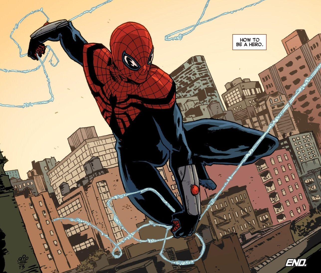 ¿En la colección de superior Spiderman, quién era el que estaba realmente tras la máscara de Spidey?