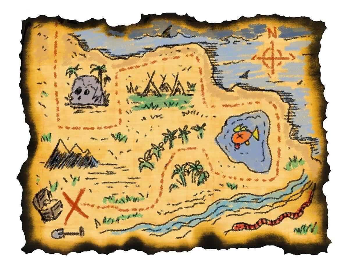 Te han dado un mapa del tesoro. ¿Qué haces?