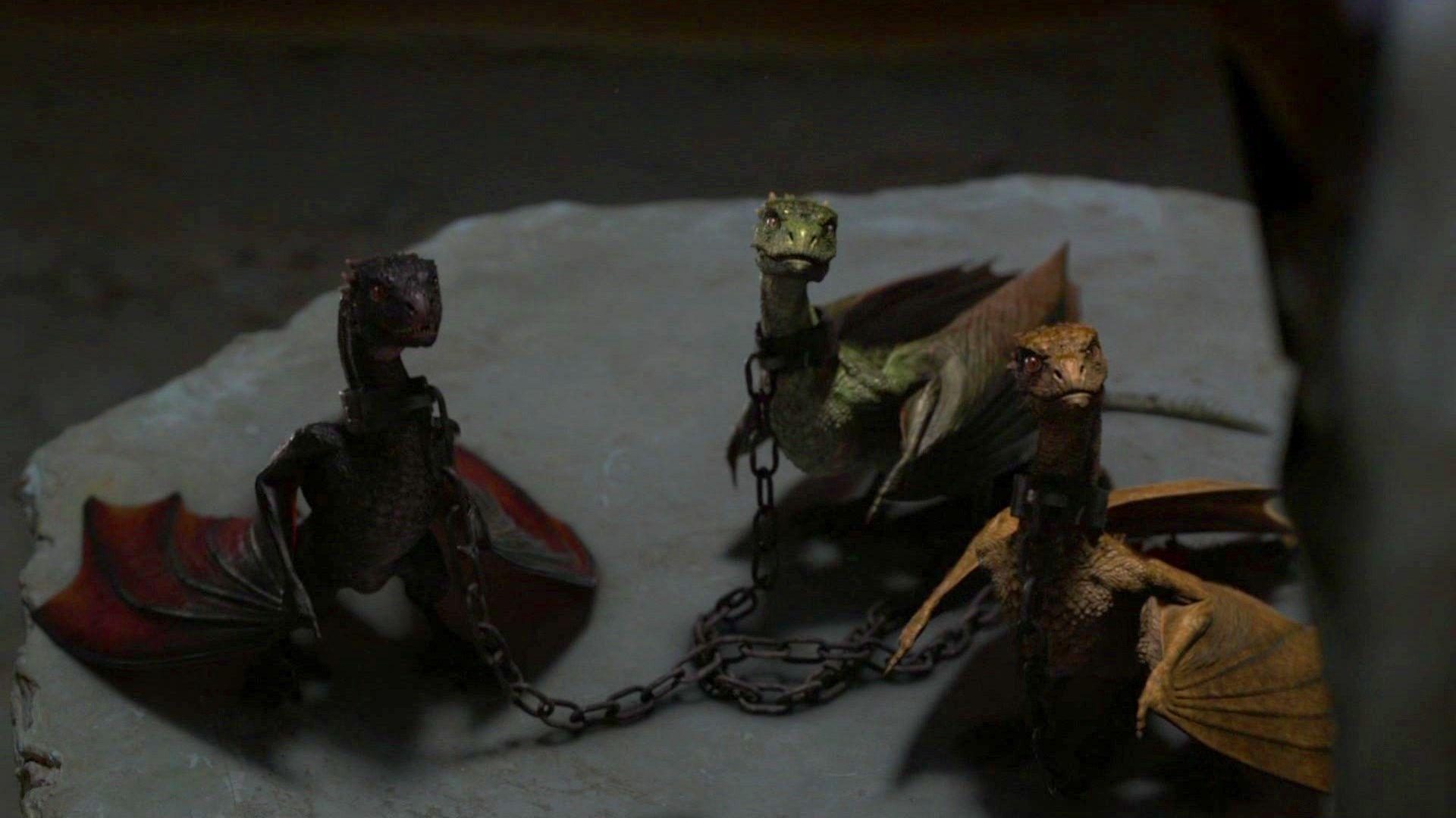 ¿Cuáles son los nombres de los dragones de Danerys?