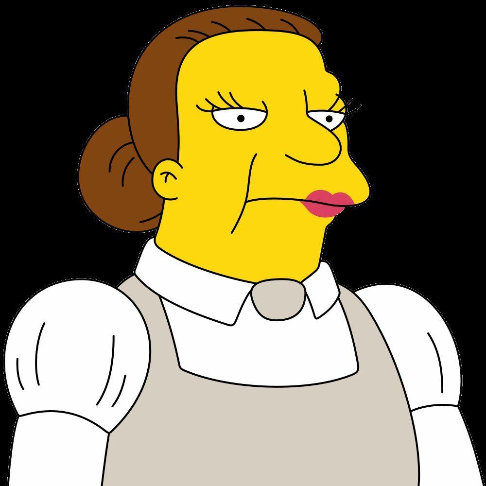 ¿Cuál es el nombre de la cocinera del colegio de Springfield?