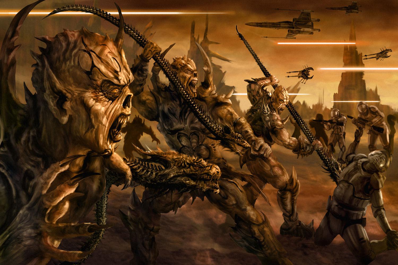 ¿Qué alienígenas de otra galaxia atacan a la Nueva República, Remanente Imperial y demás?