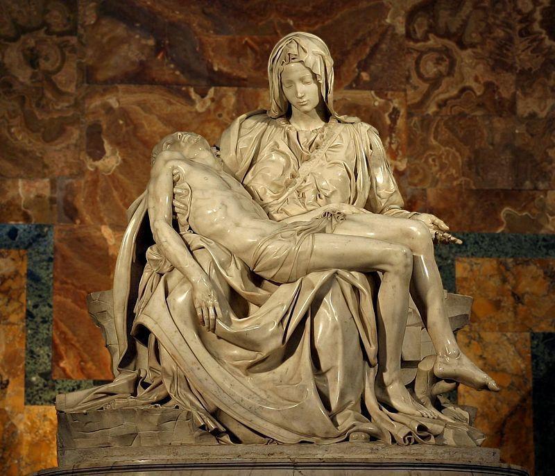 ¿Dónde se encuentra este grupo escultórico de Miguel Ángel?