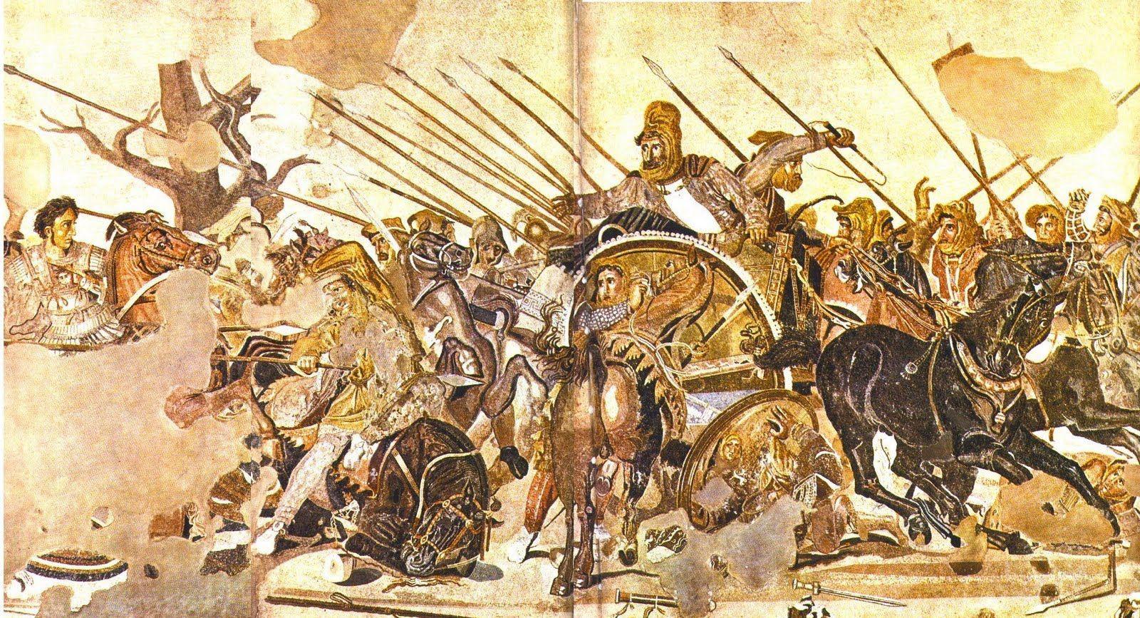 ¿En qué lugar se encontraba el mosaico de Issos o  mosaico de Alejandro Magno?