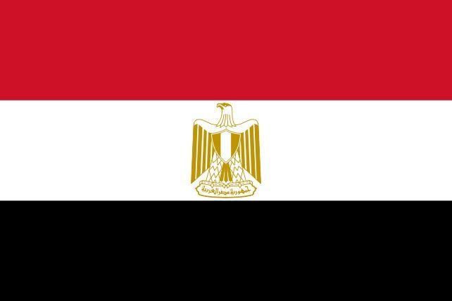 Por este país corre el Nilo, su capital es El Cairo, ¿de qué país es esta bandera?