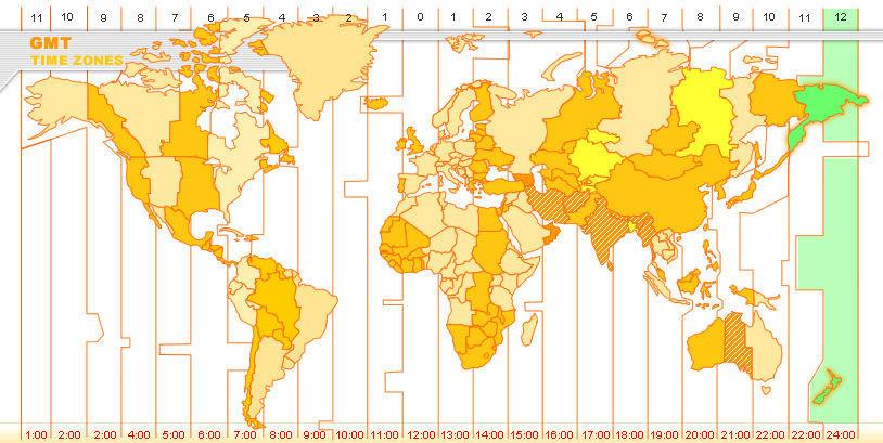 ¿Es Nueva Zelanda el país más adelantado del huso horario?