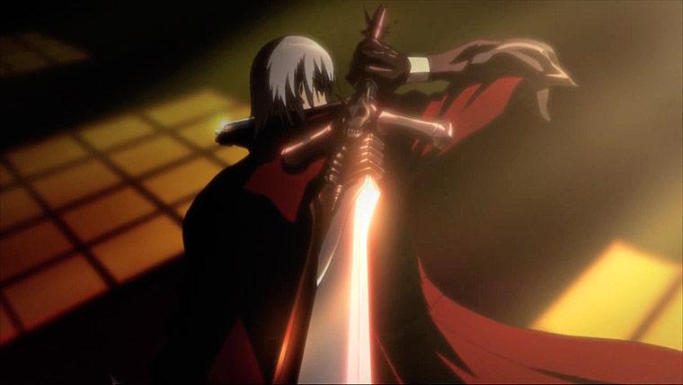 Tanto en el videojuego como en el anime, ¿cómo se llama la espada de Dante Sparda?