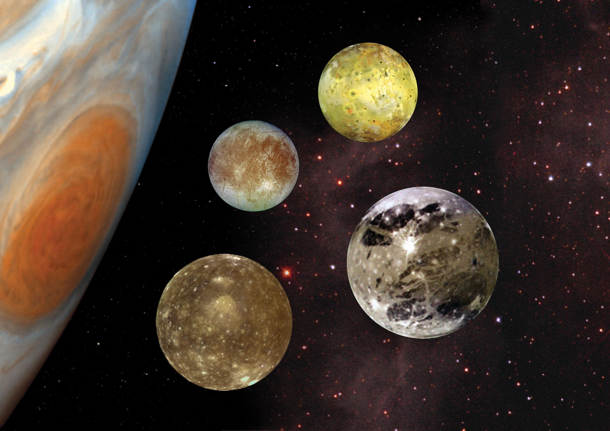 ¿En qué año Galileo Galilei descubre los satélites de Júpiter?
