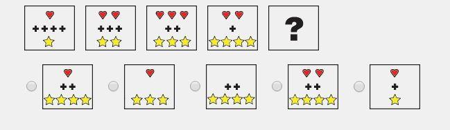 ¿Cuál de las figuras de la fila inferior debe ir por lógica en el hueco con el signo de interrogación de la fila superior?