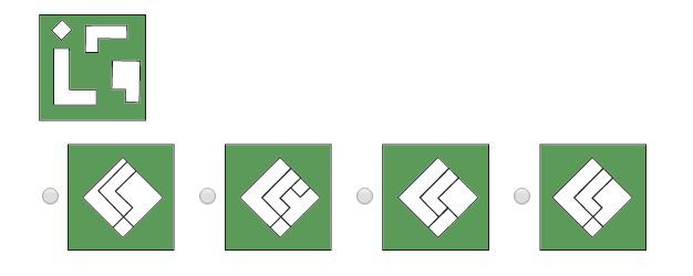 ¿Cuál de las siguientes figuras se puede componer con las piezas sueltas?