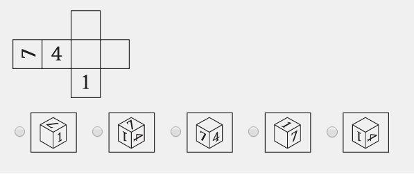 ¿Qué aspecto tendría el cubo resultante si lo doblara?