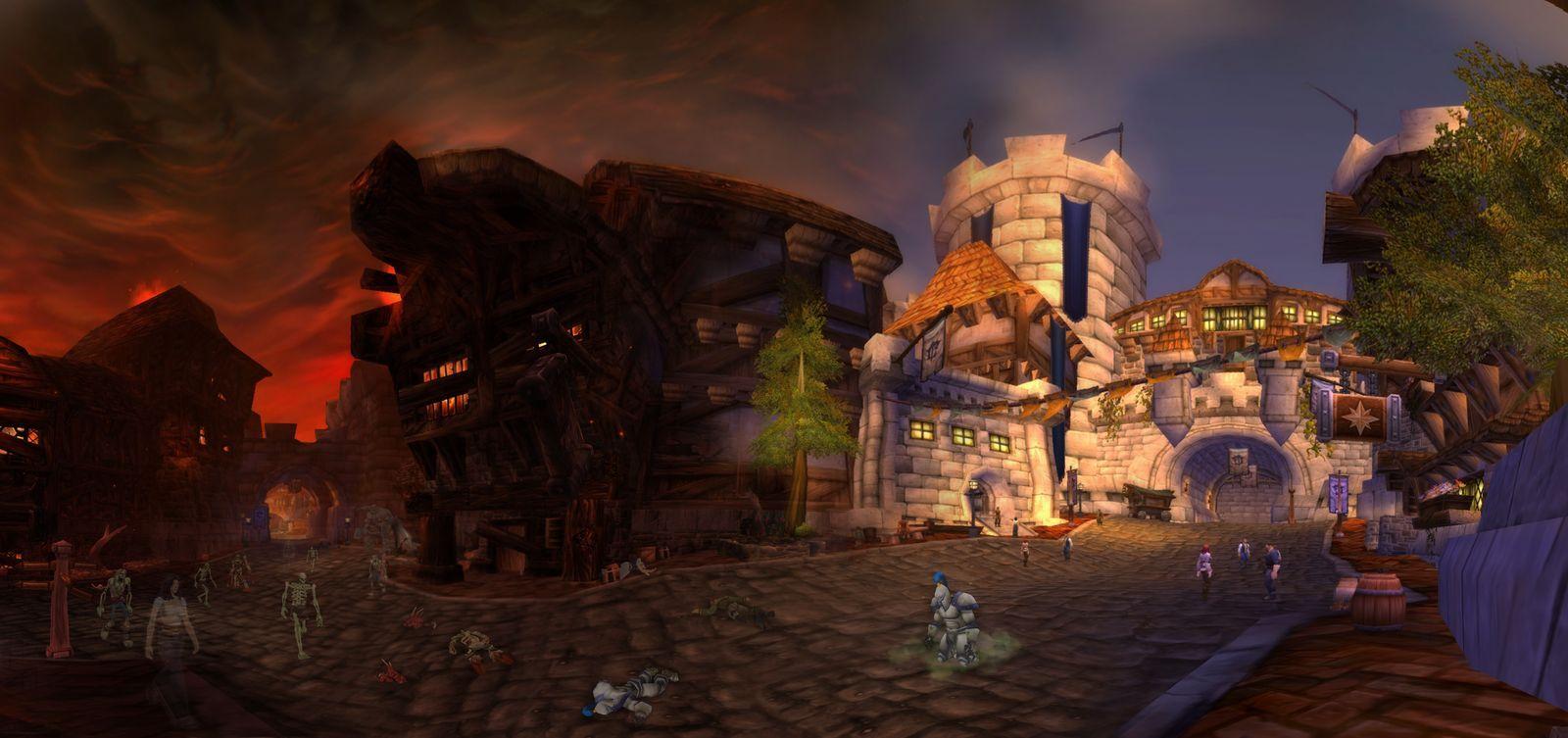 Uther, el profesor de Arthas, se opone a la masacre que planea Arthas. ¿De qué ciudad se trata?