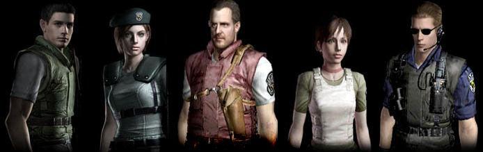 Jill Valentine, Chris Redfield, Barry Burton y Albert Wesker pertenecían al equipo.