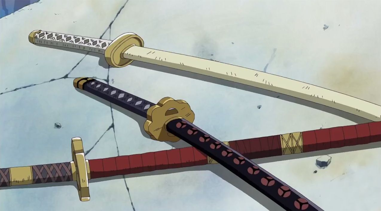 ¿De las espadas que lleva Zoro, cuál es la que pertenecía a Kuina y su familia?