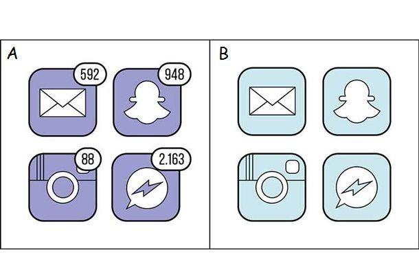Notificaciones en redes sociales