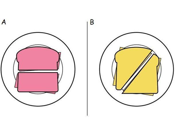 Cómo cortar un sandwich
