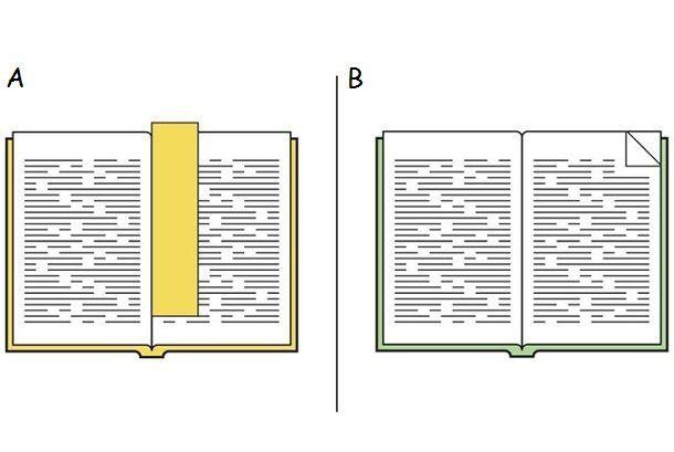 Marcar páginas del libro