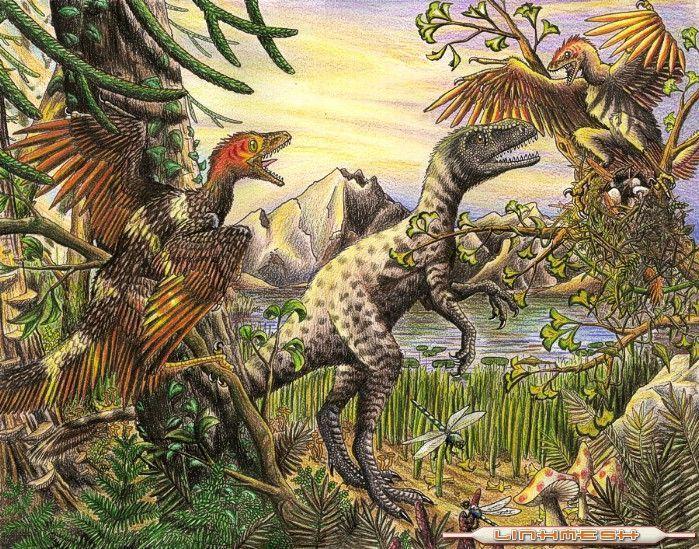 ¿Hace cuanto aparecieron los dinosaurios?