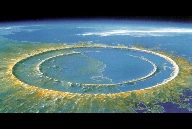 ¿Cómo se llama el cráter donde se supone que cayó el meteorito y donde se encuentra ubicado?