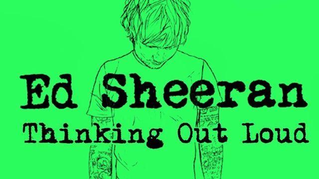 Según los medios, ¿quién cantaba con Ed Sheeran en Thinking Out Loud?