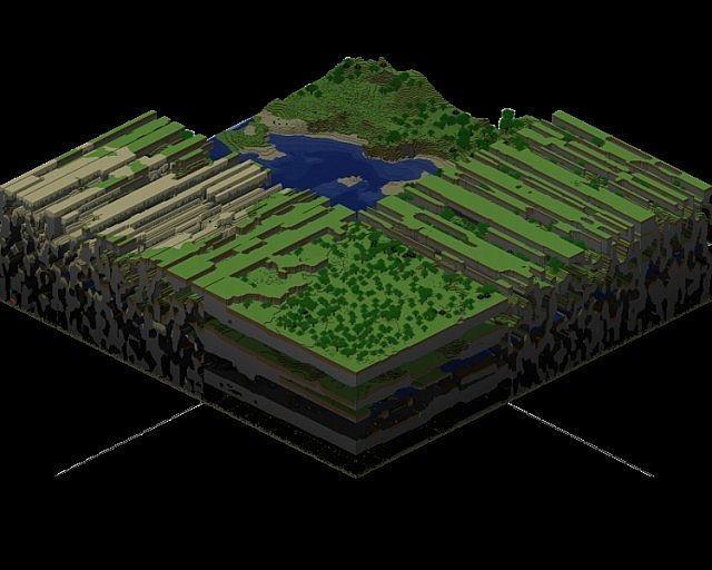 ¿Cuanta distancia tiene un mapa de Minecraft de largo en la versión actual? (1 metro=1 bloque)