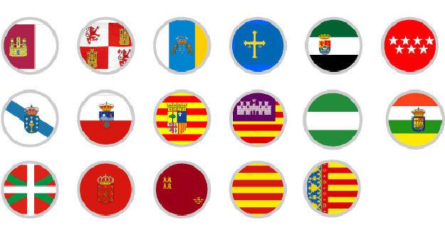587 - ¿Sabes identificar las banderas de las diferentes Comunidades Autónomas?