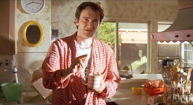 Cameo donde Tarantino es un loco religioso