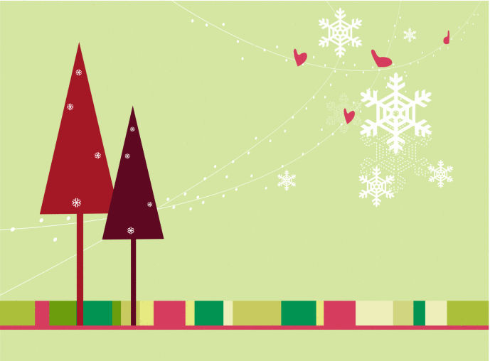 qu pona en la primera tarjeta de navidad de