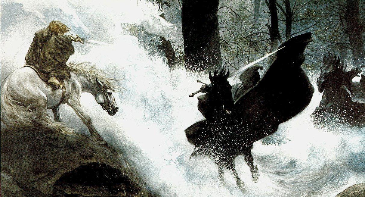 ¿Quién ayudó a Frodo a llegar a Rinvedel, con su caballo y escapando de los Nazgul? (libro)