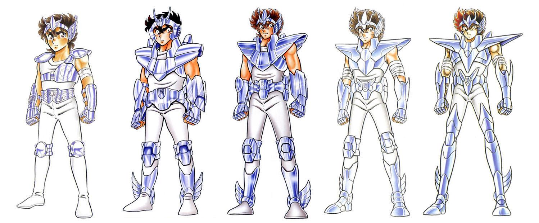 ¿Cuántas armaduras diferentes viste Seiya a lo largo de todo el manga?