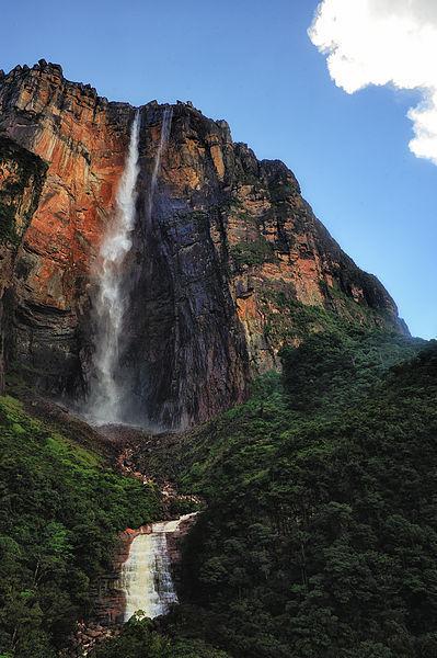 ¿Nombre que recibe la caida de agua más alta del mundo, ubicada en Venezuela?