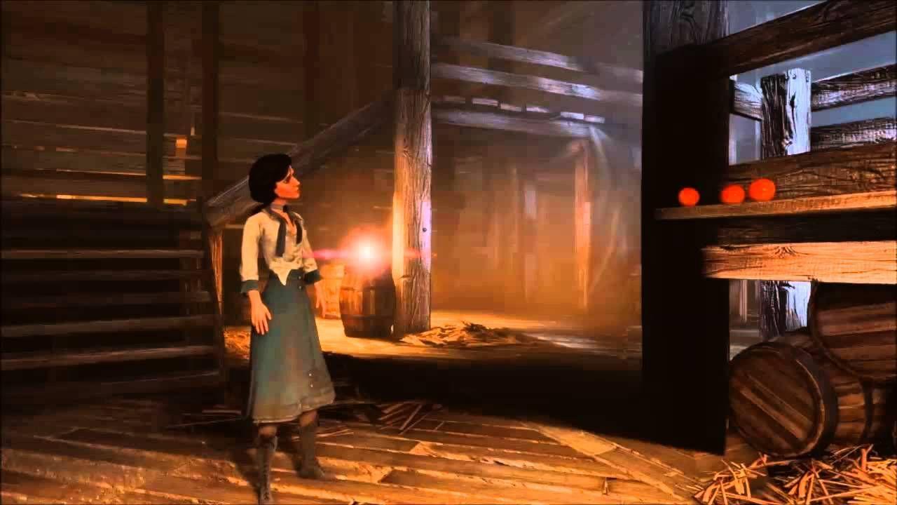 ¿Qué canción canta Elizabeth en la taberna de los barrios bajos, tras pasar Fink Industries?