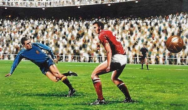 ¿Quién marcó el mítico gol que se representa en el cuadro y que nos dio nuestra primera Eurocopa?