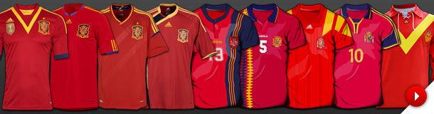 ¿Qué colores tenía la primera equipación de la historia de España?