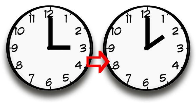 Zweimal im Jahr wird die Uhr _____ . Im März und im Oktober.