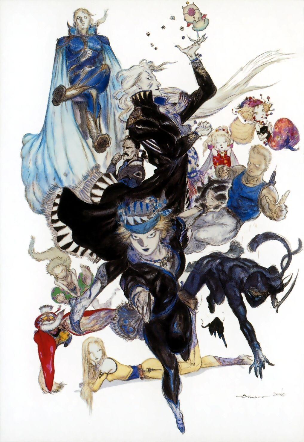 ¿Entre todo los personajes de Final fantasy VI en cual tuvo influencia Nomura?