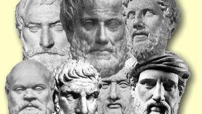 ¿Cuáles fueron los tres filósofos griegos más importantes?