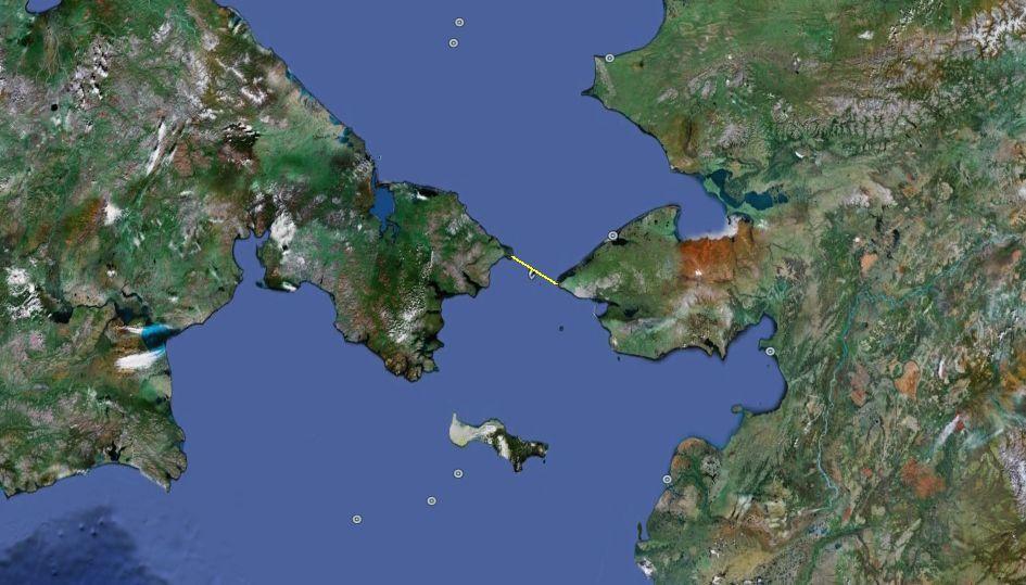 ¿Qué estrecho separa Asia de América?