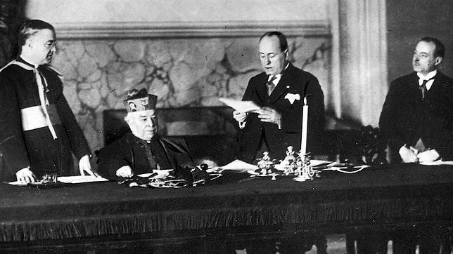 ¿Qué papa firmó los Pactos de Letrán en 1929?