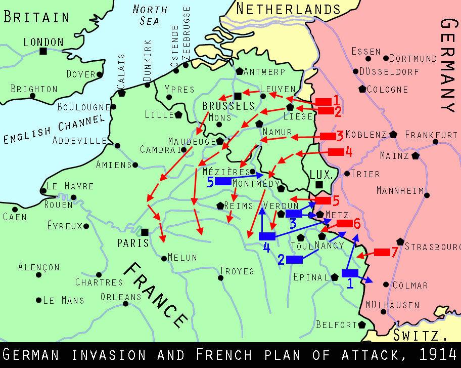 En la I Guerra Mundial, ¿con qué plan pretendía Alemania hacerse con Francia?