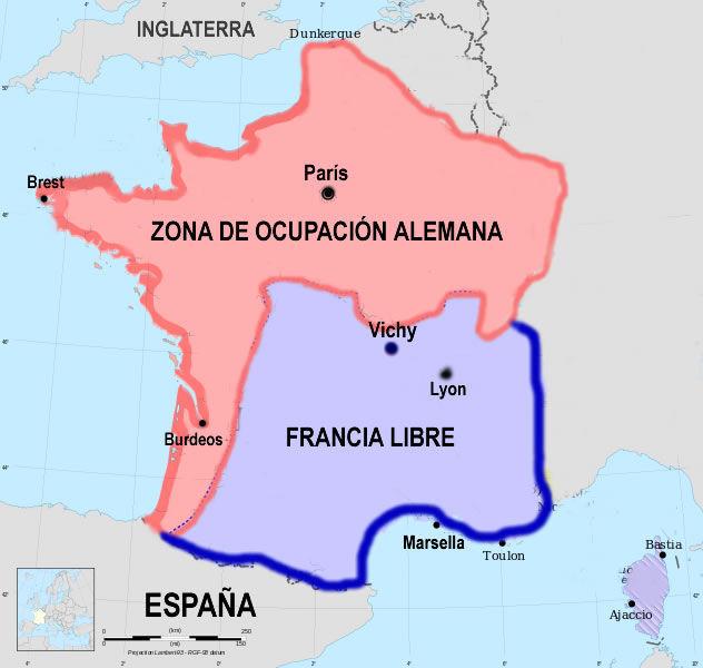 ¿Quién gobernó la Francia de Vichy cuando Hitler invadió Francia en 1940?