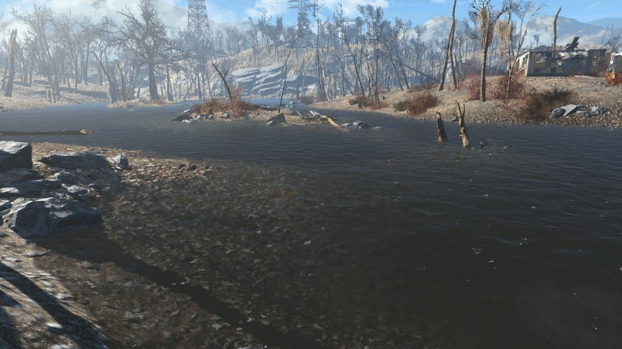 Estás completamente deshidratado y ves un pequeño lago en un claro del bosque, ves que hay un cadáver flotando en el agua.