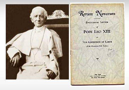 ¿Qué promulga el papa Leon XIII en su encíclica