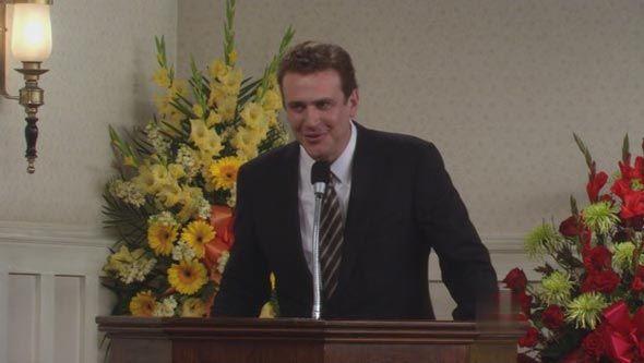 En el funeral de su padre, ¿Cuáles son las últimas palabras que Marshall dice que le dijo su padre?