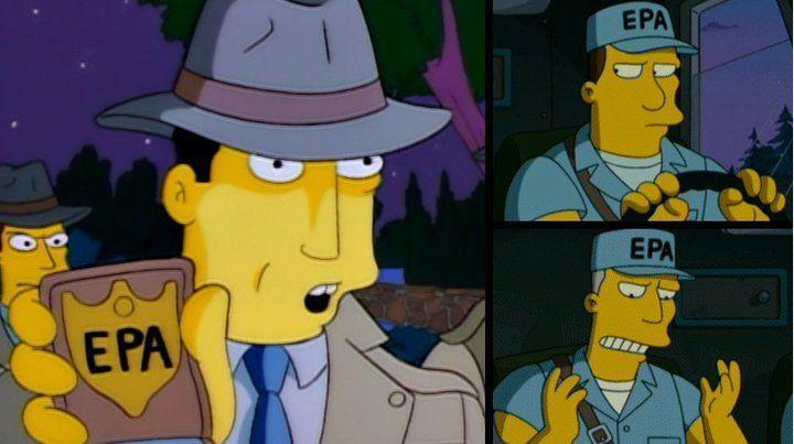 En la película de los Simpsons aparece la EPA, pero también aparece en un capítulo más. ¿En cuál?