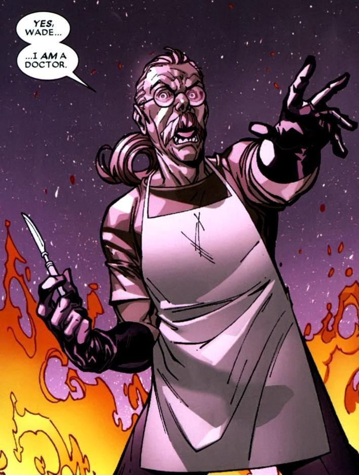 ¿Cuál es el nombre del doctor responsable de la creación de Deadpool?