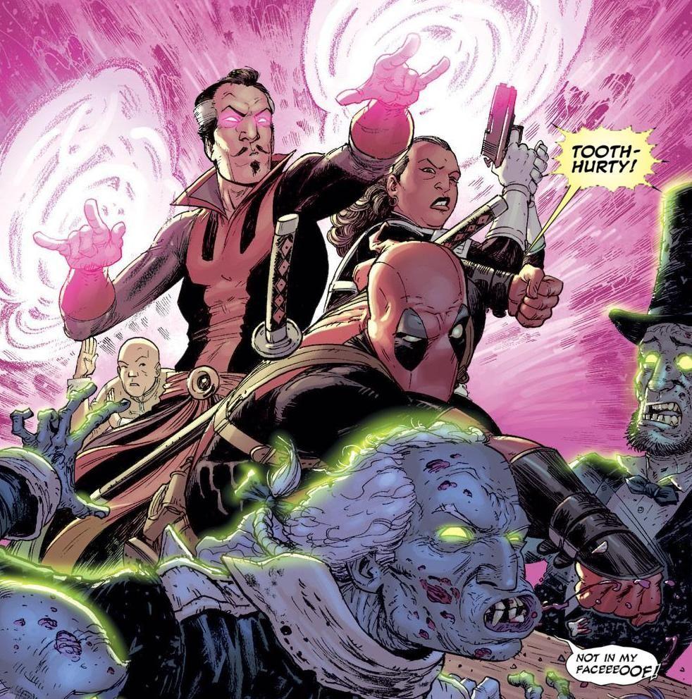 ¿Del fantasma de qué presidente obtiene ayuda Wade a lo largo del 3º de los volumenes de sus comics?