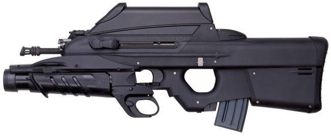 La FN F2000, la AUG, FAMAS y A-91 son armas de diseño...