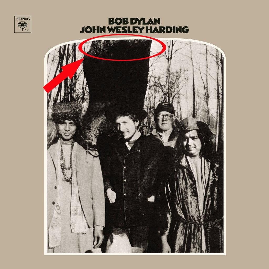 ¿A quién homenajeó con la portada del John Wesley Harding?