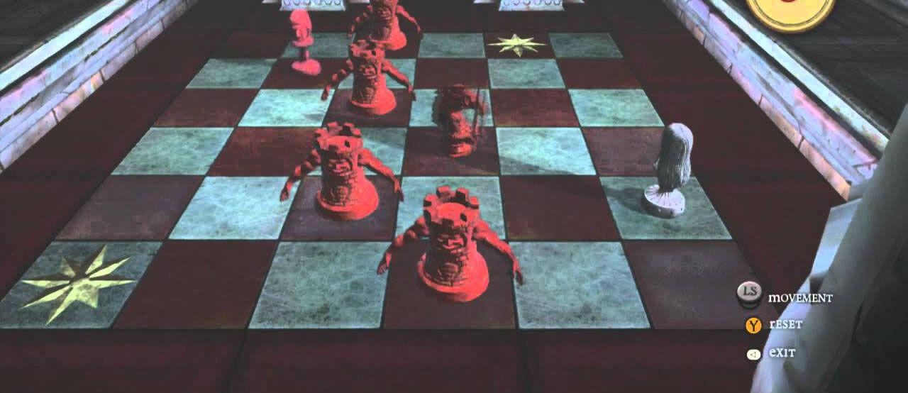 ¿En que capítulo Alice tiene que jugar en un tablero de ajedrez?
